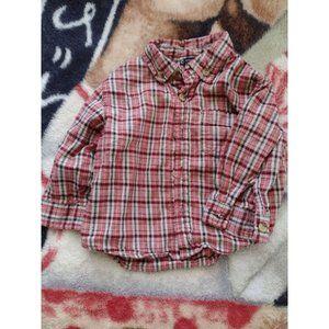 Baby Boy Flannel style Dress Shirt sherokee 12 Mon
